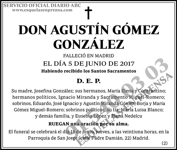 Agustín Gómez González